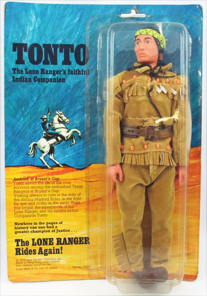 The Lone Ranger - Marx Toys - Figure Tonto (carded)