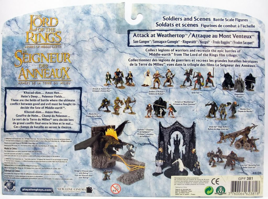 The Lord of the Rings - Armies of Middle-Earth - Attack at Weathertop : Frodo, Sam, Ringwraith