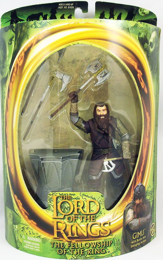 Toybiz Lord of the Ring Gimli action figures