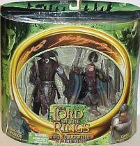 The Lord of the Rings - Uruk-Hai Warrior & Gimli - FOTR