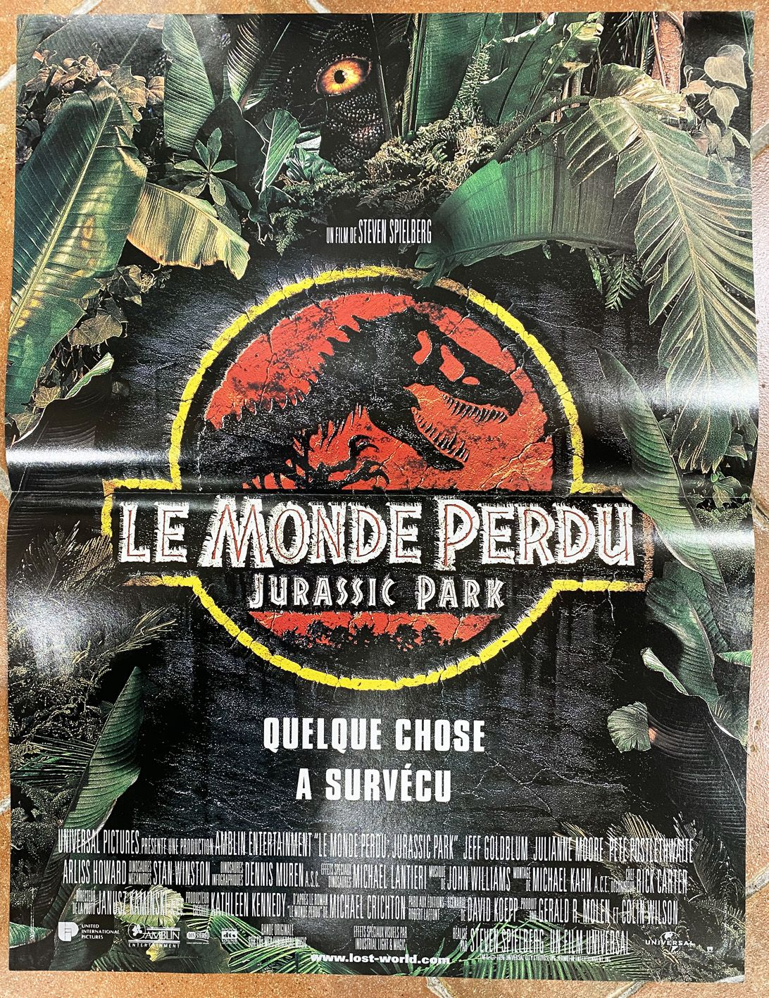 The Lost World Jurassic Park Movie Poster 40x60cm Universal Pictures 1997