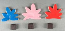 The Magic Roundabout - Magnetic Cardboard Figure Djeco 1966 - Flowers x 3 (Blue Pink Orange)
