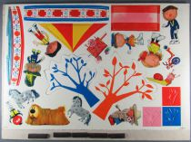 The Magic Roundabout - Plate of Magnetic Cut Figurines - Djeco 1966 2