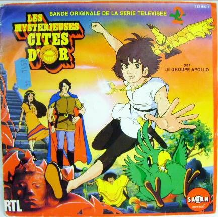 The Mysterious Cities of Gold - Mini-LP Record - Original French TV series Soundtrack - Saban Records 1983