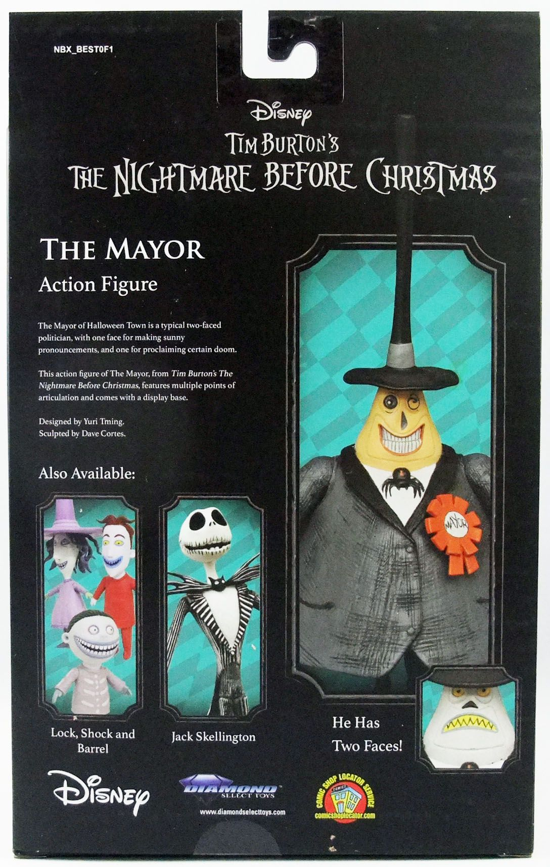 """The Nightmare before Christmas - Diamond Select - The Mayor \""""Best of Series\"""""""