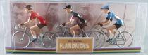 The Original Flandriens - Cycliste Métal - Les Héros - Eddy Merckx (3) Maillot Sol Superia + Moltoni Noir + Champion de Belgique