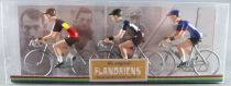 The Original Flandriens - Cycliste Métal - Les Héros - Tom Boonen Maillot Omega Quick Step + Us Postal + Omega Quick Step Belgiq