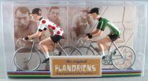 The Original Flandriens - Cycliste Métal - Tour de France - Maillot à Pois + Maillot Vert
