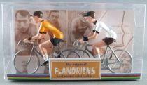 The Original Flandriens - Cycliste Métal - Tour de France - Maillot Jaune + Maillot Blanc