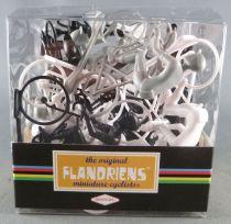 The Original Flandriens - Cycliste Plastique - Boite de 20 Pièces Noir Gris Blanc
