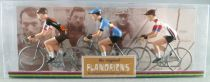 The Original Flandriens -Cyclist (Metal) - The Cycling Hero\'s - Greg Van Avermaet 3Pack Omega Pharma Lotto + Bmc + Belgium Champ