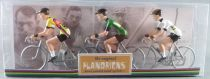 The Original Flandriens -Cyclist (Metal) - The Cycling Hero\'s - Peter Sagan 3Pack Tinkoff + Tinkoff Green + Bora Jerseys