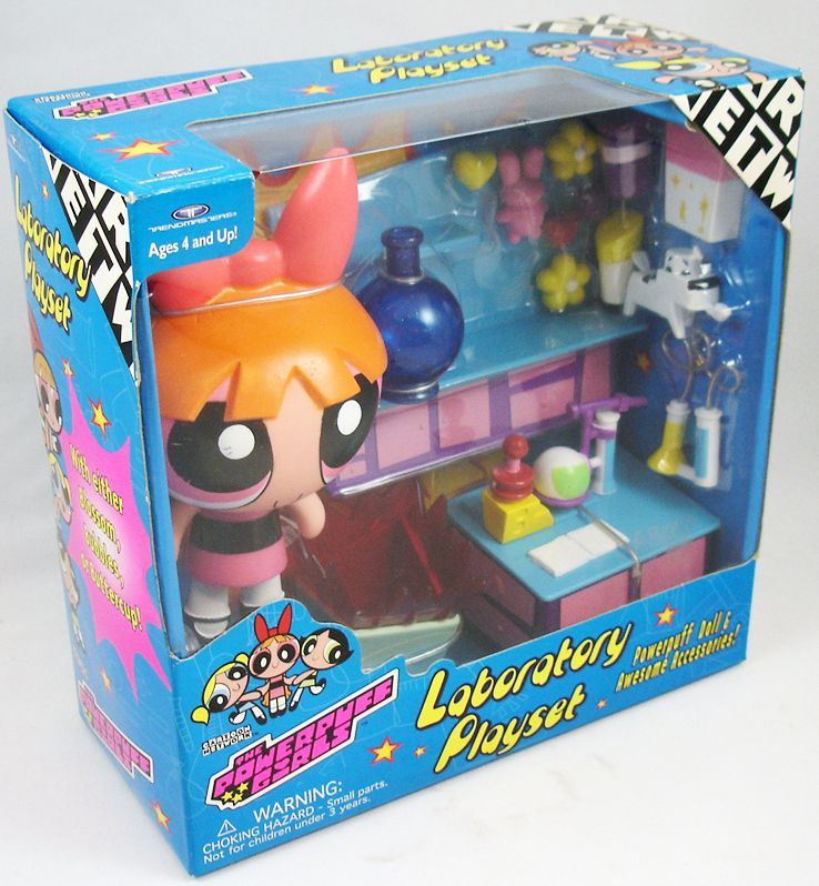 The Powerpuff Girls Les Supers Nanas - Laboratory Playset & Belle - Trendmasters (1)