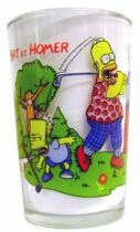 The Simpsons - Amora Mustard glass - Bart & Homer