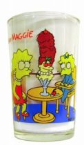 The Simpsons - Amora Mustard glass - Lisa & Maggie
