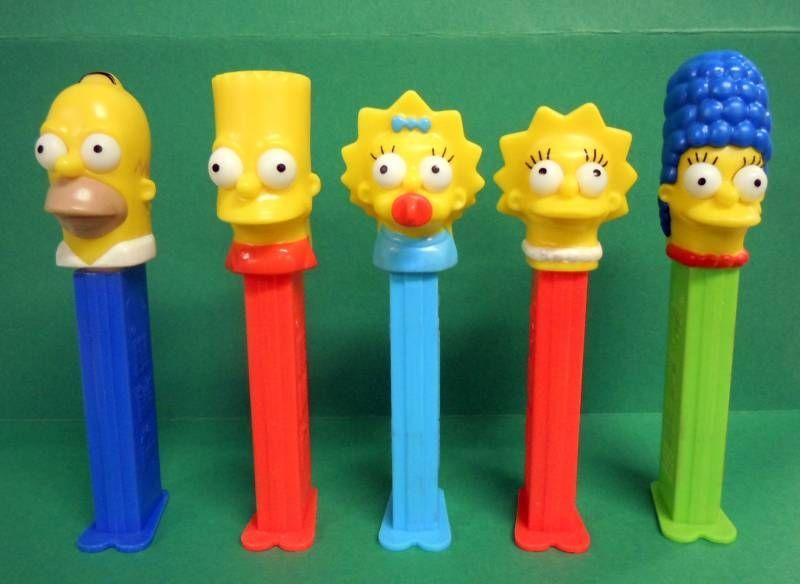 The Simpsons - PEZ dispenser - Homer, Marge, Bart, Lisa & Maggie
