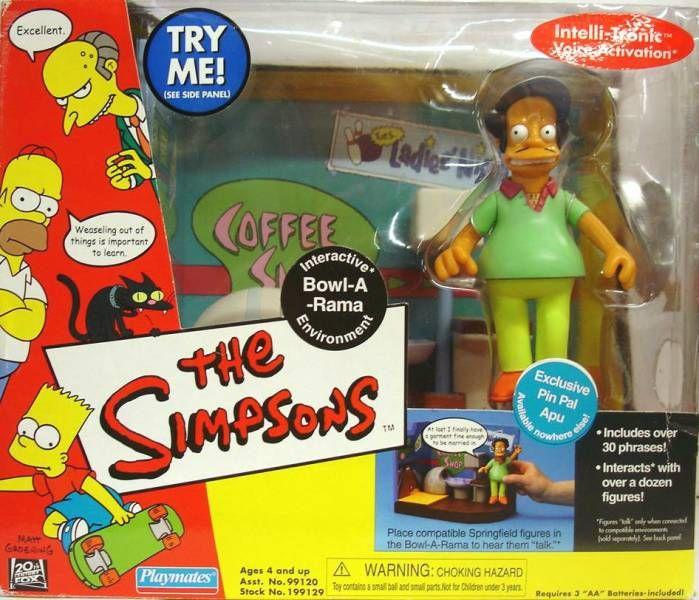 The Simpsons - Playmates - Bowl-A-Rama with Pin Pal Apu