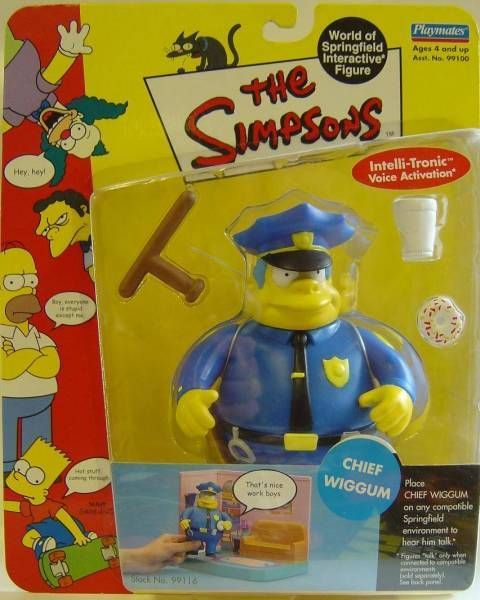 The Simpsons - Playmates - Chief Wiggum (Series 2)