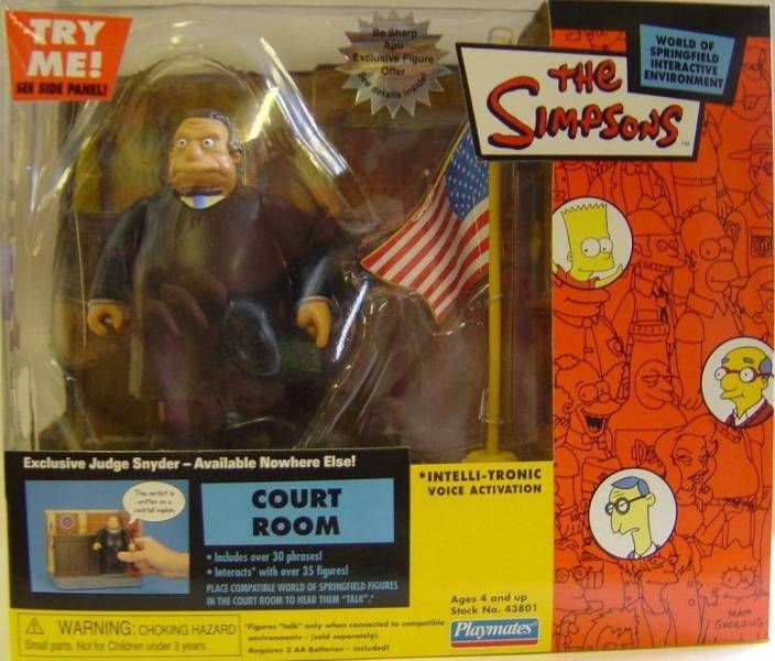 The Simpsons - Playmates - Court Room with Judge Snyder