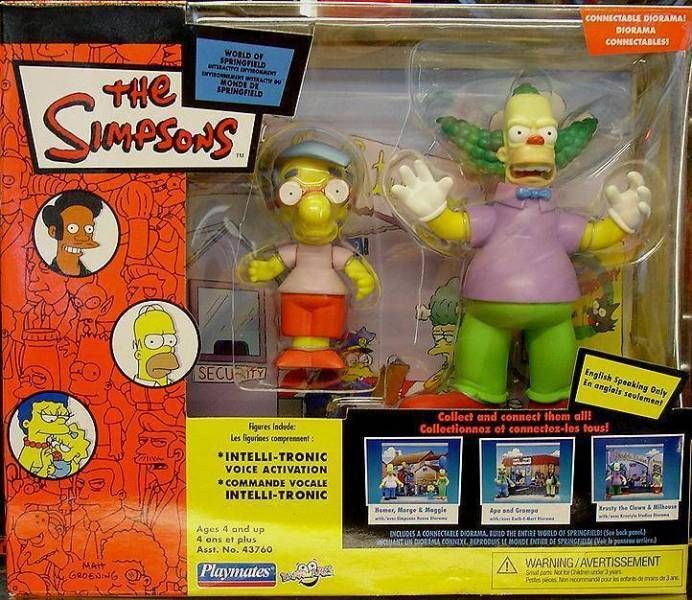 The Simpsons - Playmates - Krustylu Studios diorama (with Milhouse & Krusty the Clown)