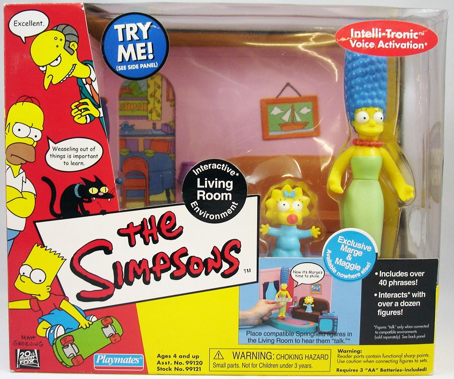 The Simpsons - Playmates - Living Room with Marge & Maggie