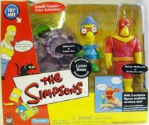 The Simpsons - Playmates - Lunar Base with Radioactive Man & Fallout Boy