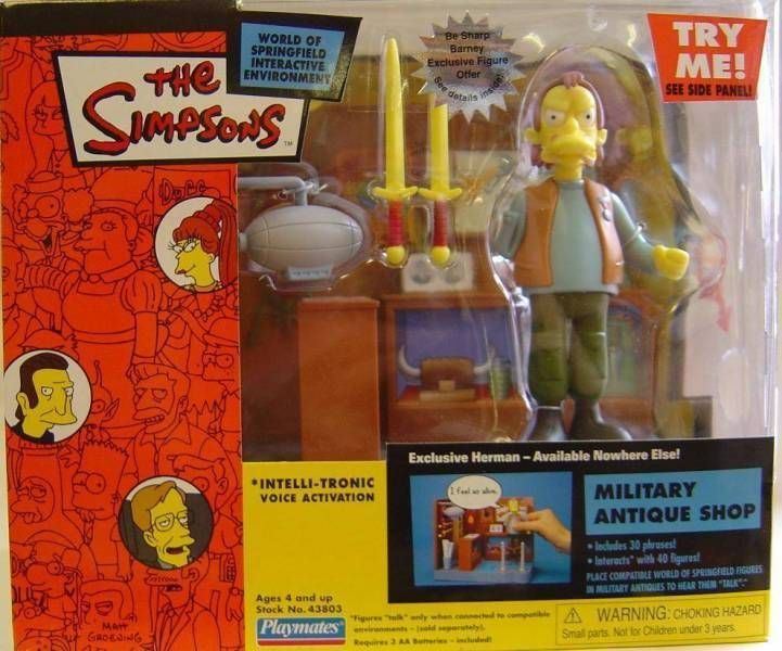 The Simpsons - Playmates - Military Antique Shop with Herman