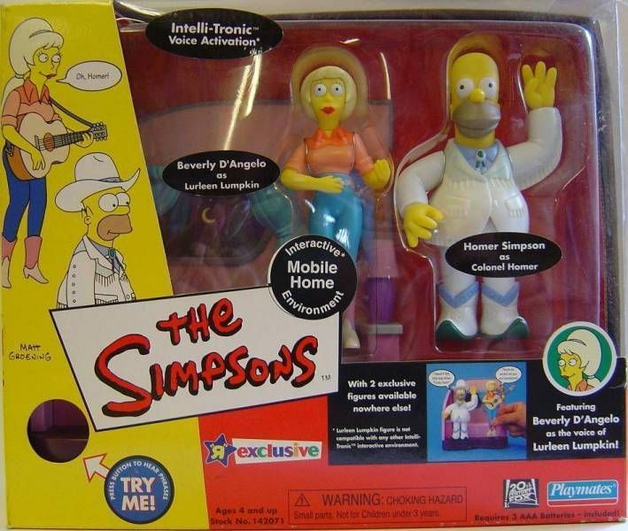The Simpsons - Playmates - Mobile Home with Colonel Homer & Lurleen Lumpkin