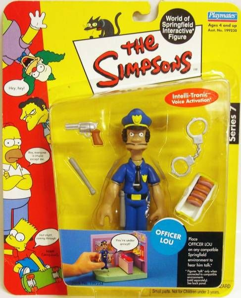 The Simpsons - Playmates - Officer Lou (Series 7)