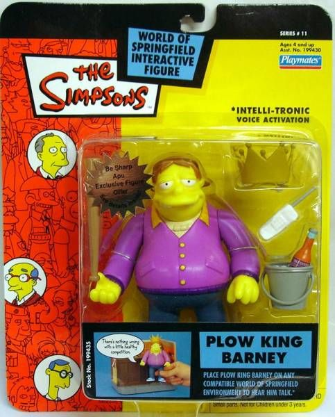 The Simpsons - Playmates - Plow King Barney (Series 11)