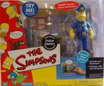 The Simpsons - Playmates - Police Station with Officer Eddie