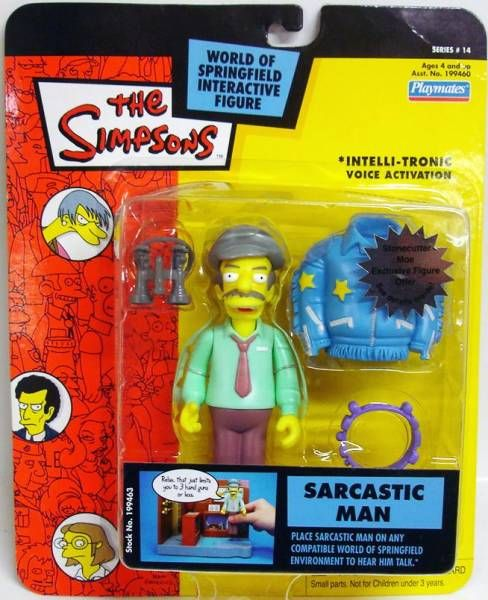 The Simpsons - Playmates - Sarcastic Man (Series 14)