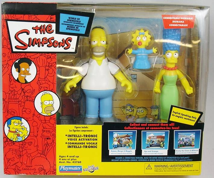 The Simpsons - Playmates - Simpsons Hous diorama (with Homer, Marge & Maggie)