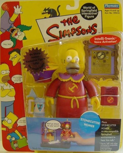 The Simpsons - Playmates - Stonecutter Homer (Series 10)