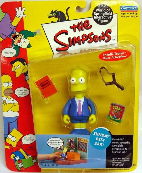 The Simpsons - Playmates - Sunday Best Bart (Series 2)
