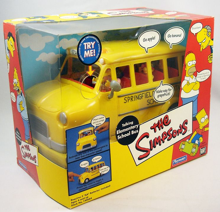 The Simpsons - Playmates - Talking Elementary School Bus (1)