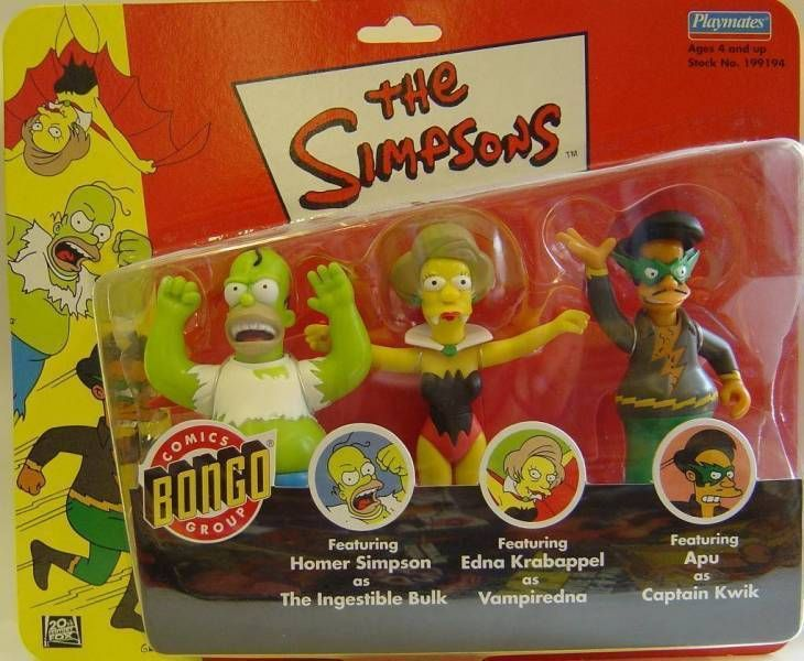 The Simpsons - Playmates - The Ingestible Bulk, Vampiredna & Captain Kwik