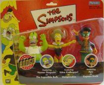 The Simpsons - Playmates - The Ingestible Bulk, Vampiredna & Captain Kwik