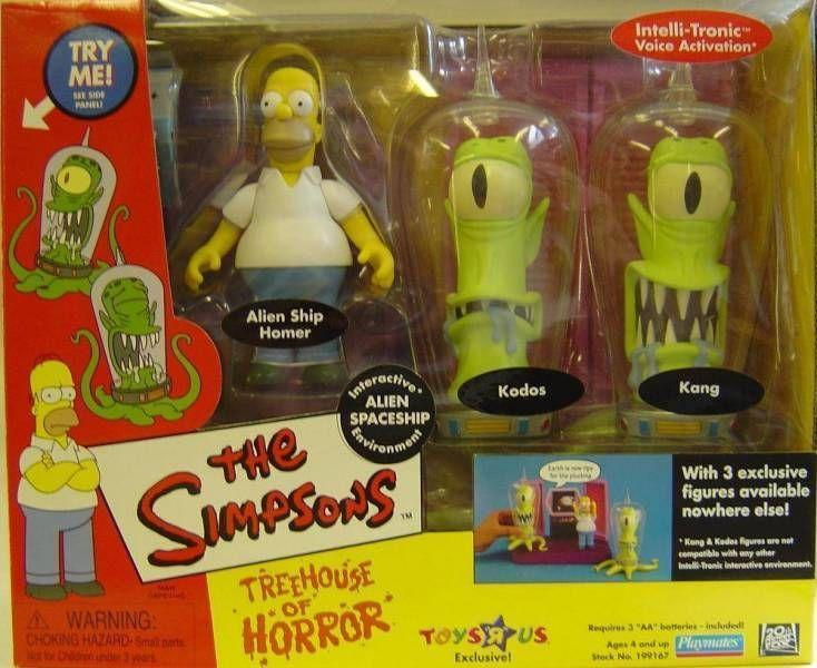 The Simpsons - Playmates - The Simpsons - Playmates - Alien Spaceship with Homer, Kang & Kodos