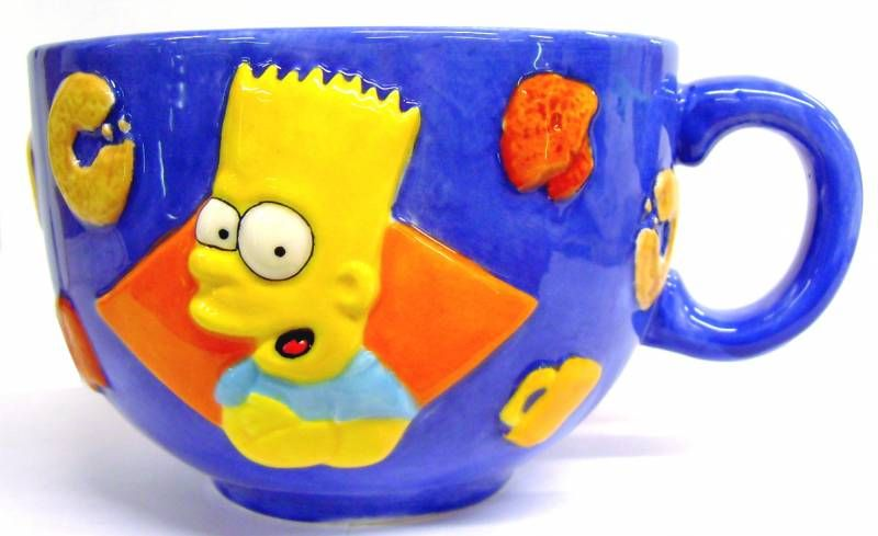 The Simpsons - Tropico Diffusion - Bart Simpson Ceramic Breakfast Bowl