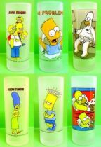 The Simpsons - Tropico Diffusion - Set of  6 water glasses Bart Simpson