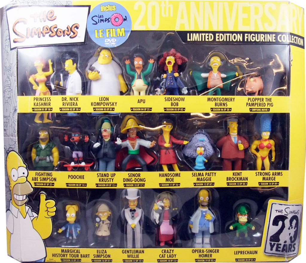 The Simpsons Winning Moves The Simpsons 20th Anniversary 21 Pvc Figures Gift Set The Simpsons The Movie