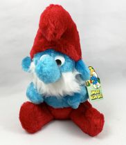 The Smurfs - Bean Bag Schleich (Wallace Berrie) - 8inch Papa Smurf