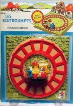 The Smurfs - Céji Wind up - Smurf Train (mint on card)