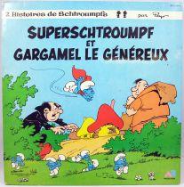 The Smurfs - LP record book - SuperSmurf & the Generous Gargamel