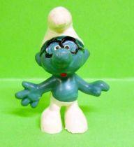The Smurfs - Schleich - 20006 Brainy Smurf (black glasses)