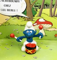 The Smurfs - Schleich - 20009 Drummer Smurf (Made in Portugal)