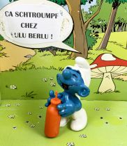 The Smurfs - Schleich - 20057 Thirsty Smurf (orange straw variation)