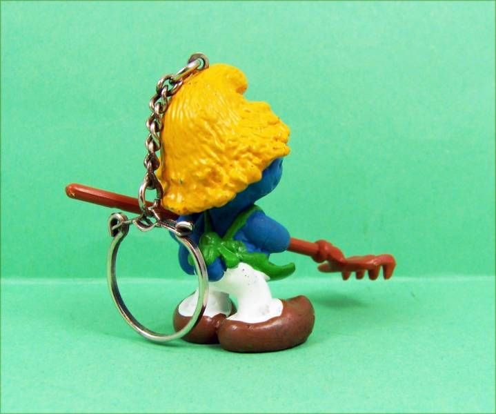 The Smurfs - Schleich - 20138 Gardener Smurf (keychain)