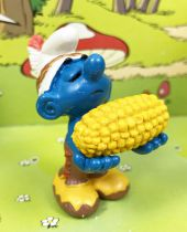 The Smurfs - Schleich - 20197 Indian Smurf with corn (Made in Portugal)